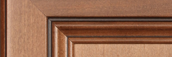 Woodmont Cabinetry chocolate line glaze