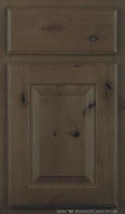 Kingston Knotty Alder Door Style in Smoke Finish
