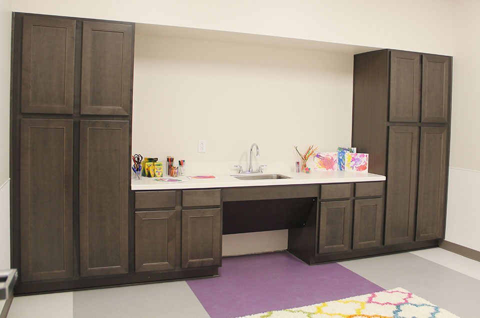 Woodmont Cabinetry Donated Installations Like This Throughout Ann Moody  Place
