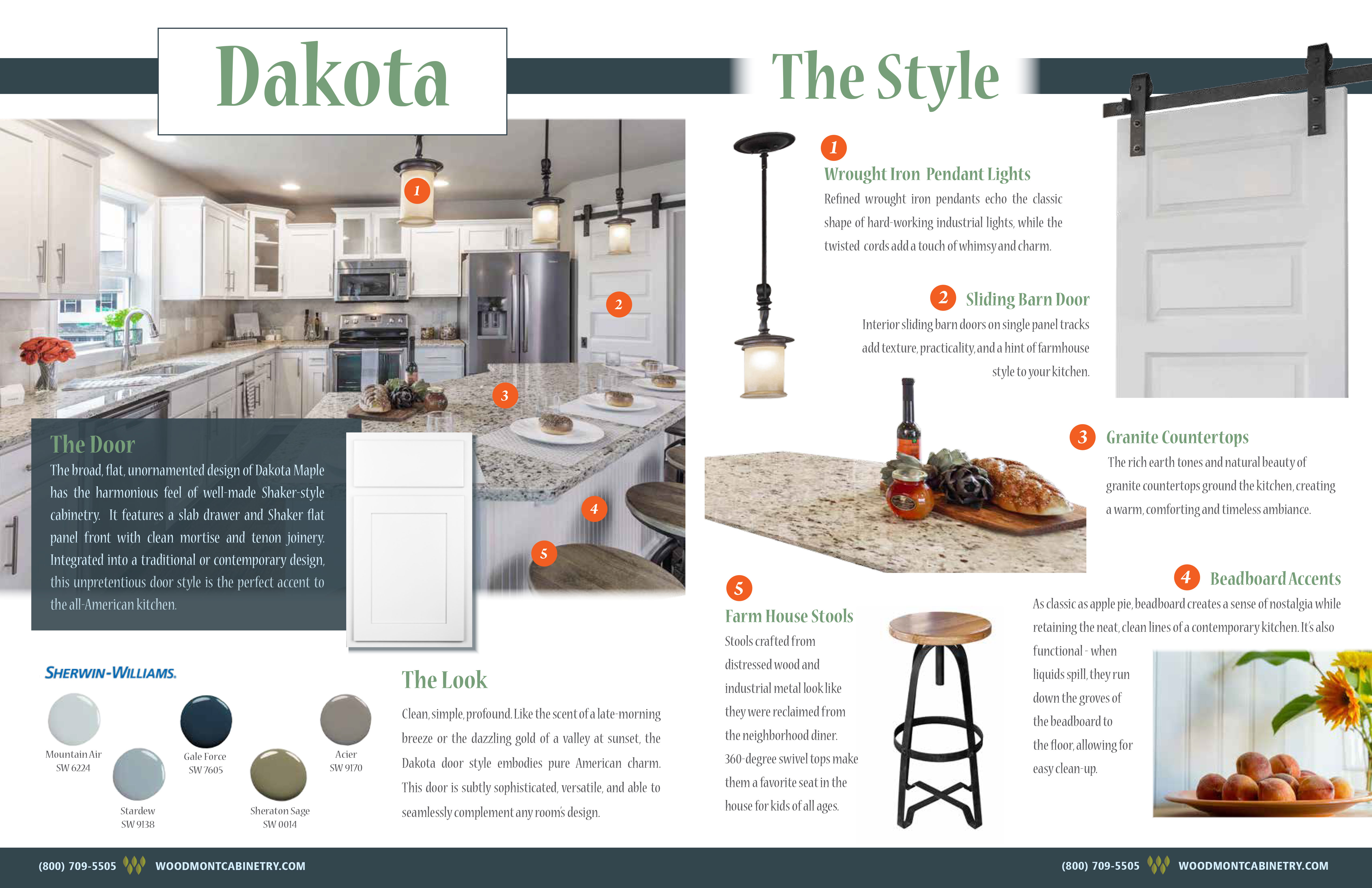 Dakota Door Style Guide - Woodmont Cabinetry