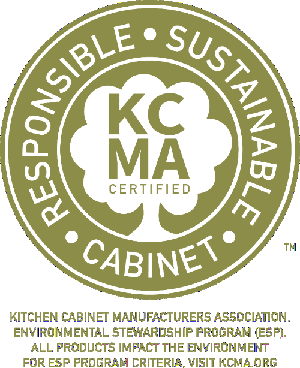 Woodmont Cabinetry is proud to be KCMA Certified in the Environmental Stewardship Program (ESP)