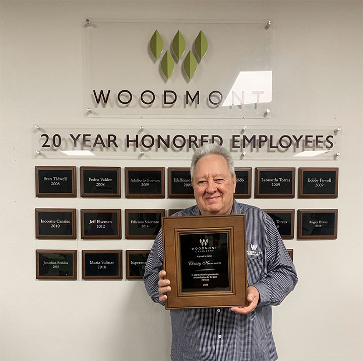 Woodmont Cabinetry tenure recognition 2021