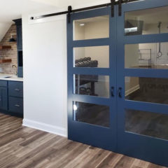 Adriatic Sea Cabinetry Makes a Splash in a Basement Remodel